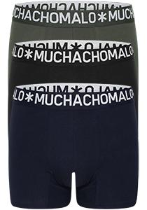 Muchachomalo Light Cotton heren boxershorts (3-pack), blauw, groen en zwart