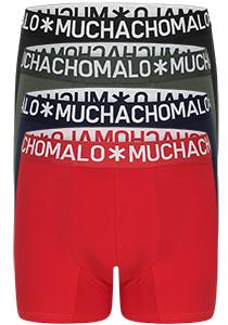 Muchachomalo Light Cotton heren boxershorts (4-pack), blauw, groen, rood en zwart
