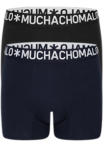 Muchachomalo Light Cotton heren boxershorts (2-pack), blauw en zwart