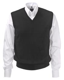 OLYMP heren spencer wol, V-hals, zwart