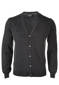OLYMP heren vest wol, antraciet grijs