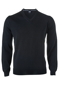 OLYMP heren trui wol, V-hals, zwart