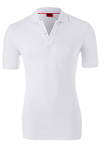 OLYMP Level 5 body fit poloshirt, stretch, wit