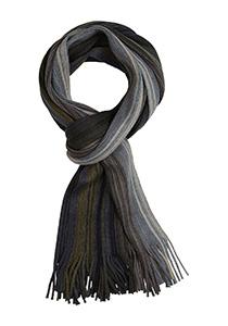 Michaelis heren sjaal, grijs-blauw-groen gestreept