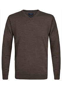 Profuomo Originale Slim Fit, heren trui wol, taupe
