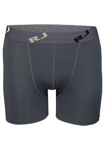 RJ Bodywear Pure Color boxershort (1-pack), heren boxer normale lengte, microfiber, grijs