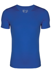 RJ Bodywear Pure Color T-shirt V-hals, kobalt blauw