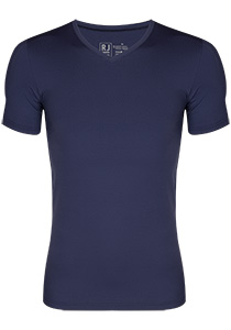 RJ Bodywear Pure Color T-shirt V-hals, donkerblauw