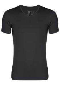 RJ Bodywear Pure Color T-shirt V-hals, grijs (micro)