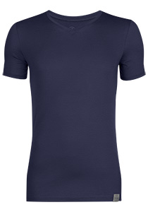RJ Bodywear The Good Life 2-pack T-shirt V-hals, donkerblauw