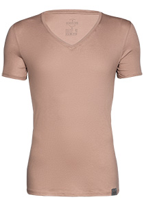 RJ Bodywear The Good Life 2-pack T-shirt diepe V-hals, huidskleur