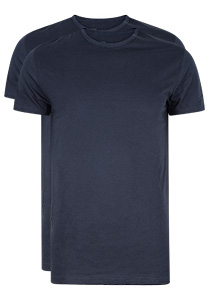 RJ Bodywear Everyday Rotterdam 2-pack T-shirt O-hals smal, donkerblauw