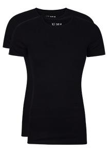 RJ Bodywear Everyday Groningen 2-pack T-shirt O-hals, zwart rib