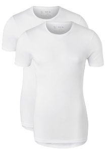 RJ Bodywear Everyday Groningen 2-pack T-shirt O-hals, wit rib