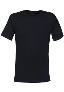 SCHIESSER Mix+Relax T-shirt, korte mouw O-hals, blauw