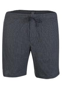 Schiesser Mix+Relax korte lounge broek (dun), blauw geruit