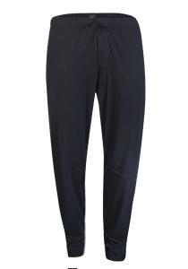 SCHIESSER Mix+Relax lounge broek, lange pijpen zonder boord, dun, blauw