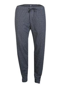 SCHIESSER Mix+Relax lounge broek, lange pijpen zonder boord, dun, blauw geruit