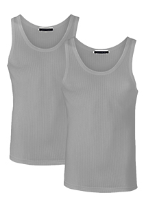 SCHIESSER Authentic singlets (2-pack), grijs