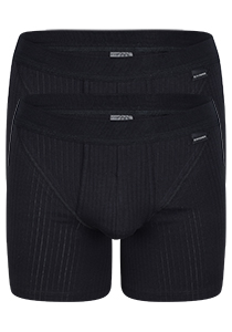 SCHIESSER Authentic shorts (2-pack), met gulp, zwart
