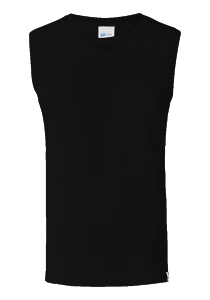 SCHIESSER Long Life Cotton tanktop (1-pack), V-hals, zwart
