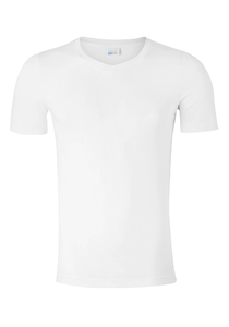 SCHIESSER Long Life Cotton T-shirt (1-pack), V-hals, wit