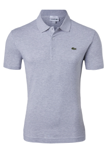 Lacoste Sport polo Slim Fit, grijs melange (ultra lightweight knit)