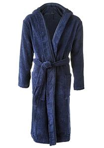 SCHIESSER heren badjas, dik badstof, blauw