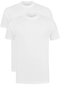 VENT wijd model T-shirt O-hals (2-pack), wit