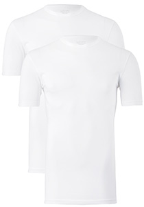 Claesen's T-shirts (2-pack), O-hals, wit