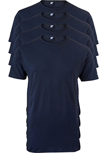 ALAN RED T-shirts Derby extra lang (4-pack), O-hals, blauw