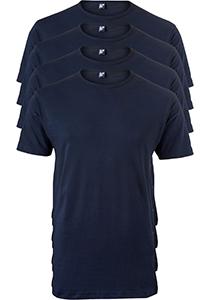 ALAN RED T-shirts Derby (4-pack), O-hals, blauw