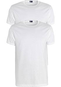 ALAN RED T-shirts Derby extra lang (2-pack), O-hals, wit