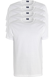 ALAN RED T-shirts Derby extra lang (4-pack), O-hals, wit