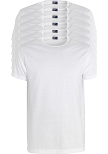 ALAN RED T-shirts Derby extra lang (6-pack), O-hals, wit