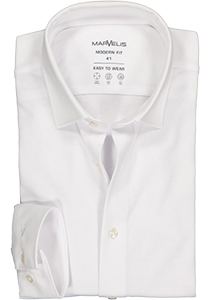 MARVELIS jersey modern fit overhemd, wit tricot