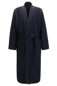 Hugo Boss heren ochtendjas, Waffle Kimono blauw