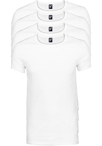ALAN RED T-shirts James (4-pack), diepe O-hals, wit