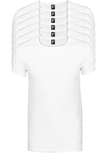 ALAN RED T-shirts James (6-pack), diepe O-hals, wit
