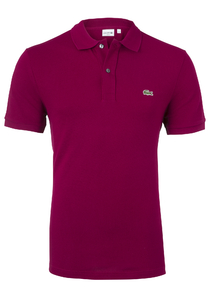 Lacoste Slim Fit polo, bordeaux rood