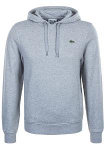 Lacoste heren hoodie sweatshirt, grijs melange