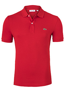Lacoste Slim Fit polo, rood
