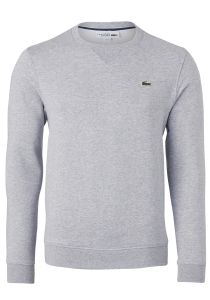 Lacoste heren sweatshirt, grijs melange
