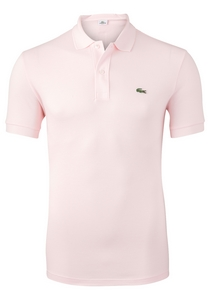 Lacoste Slim Fit polo, flamingo roze