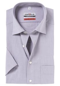 MARVELIS Comfort Fit overhemd, korte mouw, grijs