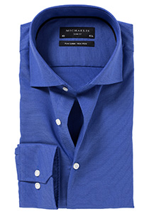 Michaelis Slim Fit overhemd, kobalt blauw Oxford