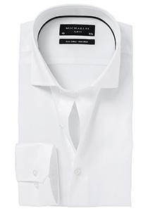 Michaelis slim fit overhemd, twill, wit