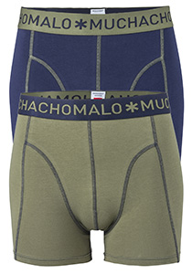 Muchachomalo boxershorts 2-pack, blauw / groen
