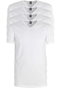 ALAN RED T-shirts Oklahoma extra lang (4-pack), V-hals stretch, wit