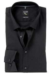 OLYMP No. Six super slim fit overhemd, zwart (met extra tailleringsnaden)